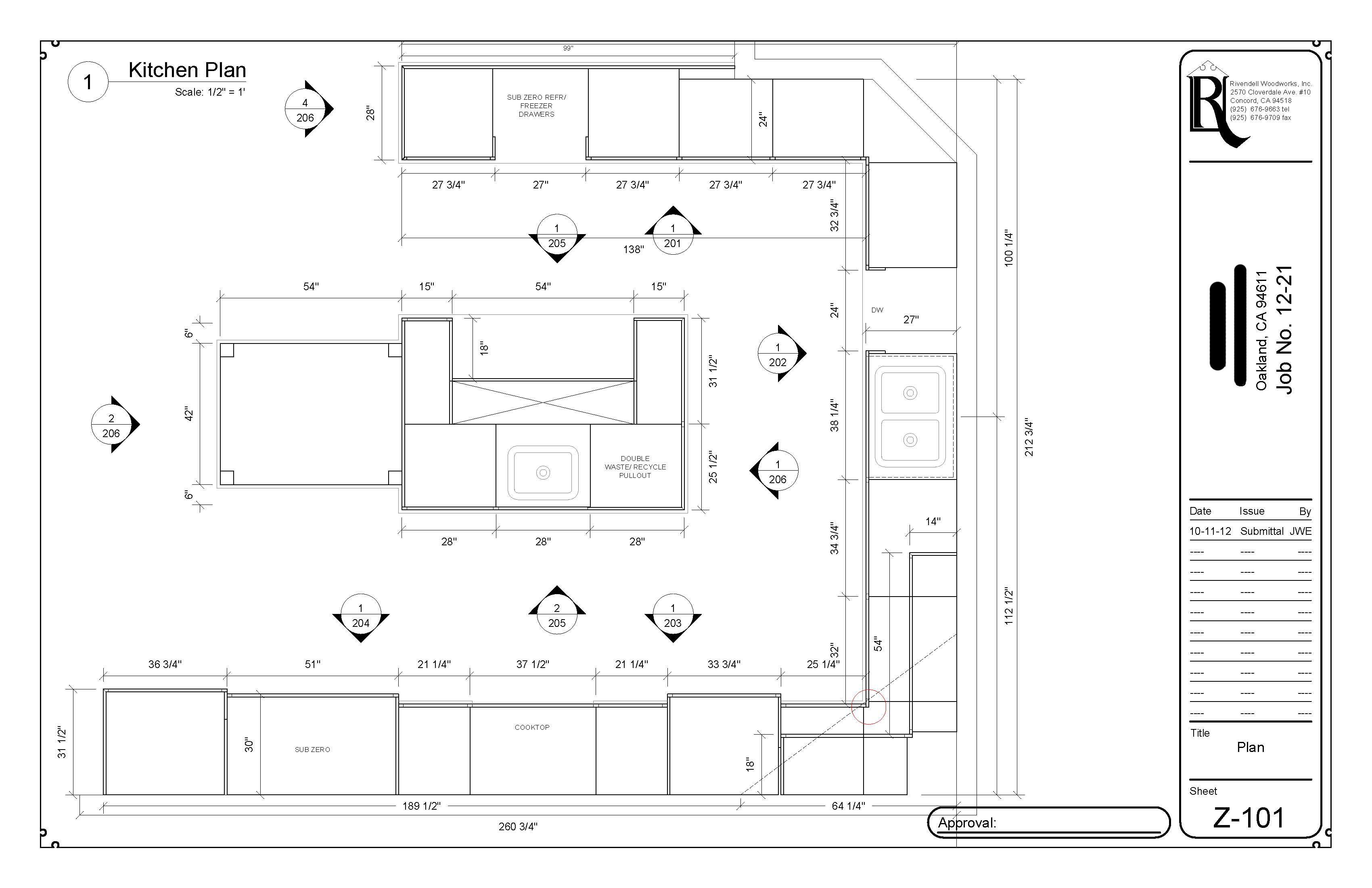 Kitchen Plan View