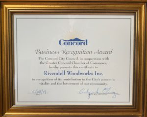 Business Recognition Award