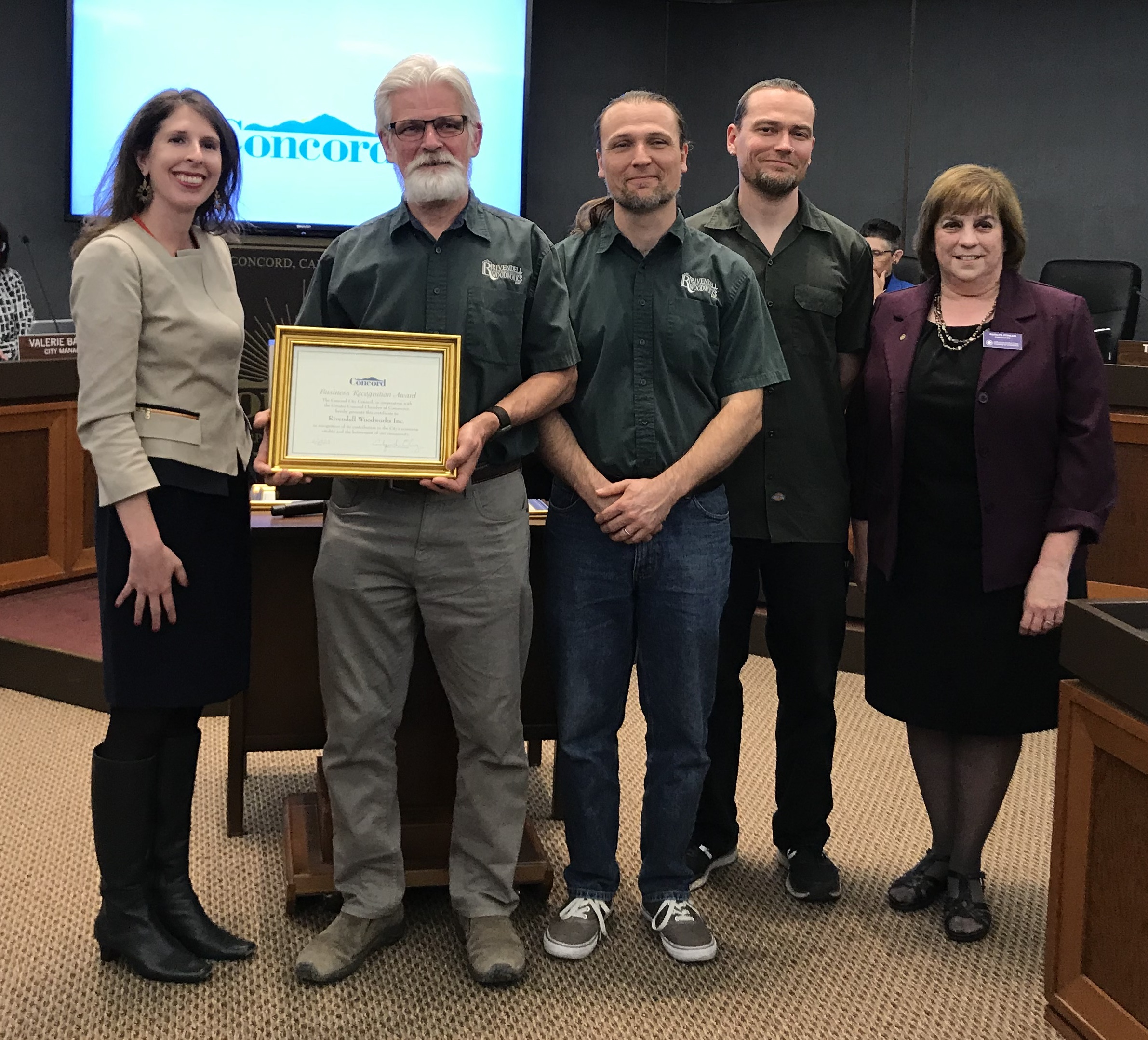 City of Concord Business Recognition Award